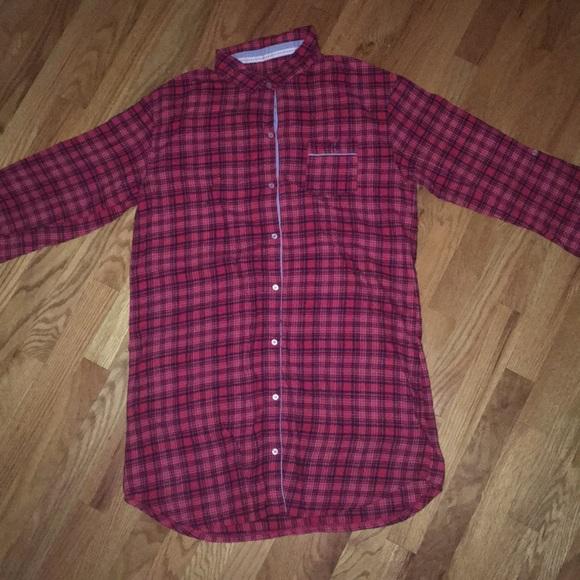 Tommy Hilfiger Intimates Sleepwear Red Plaid Flannel Nightgown